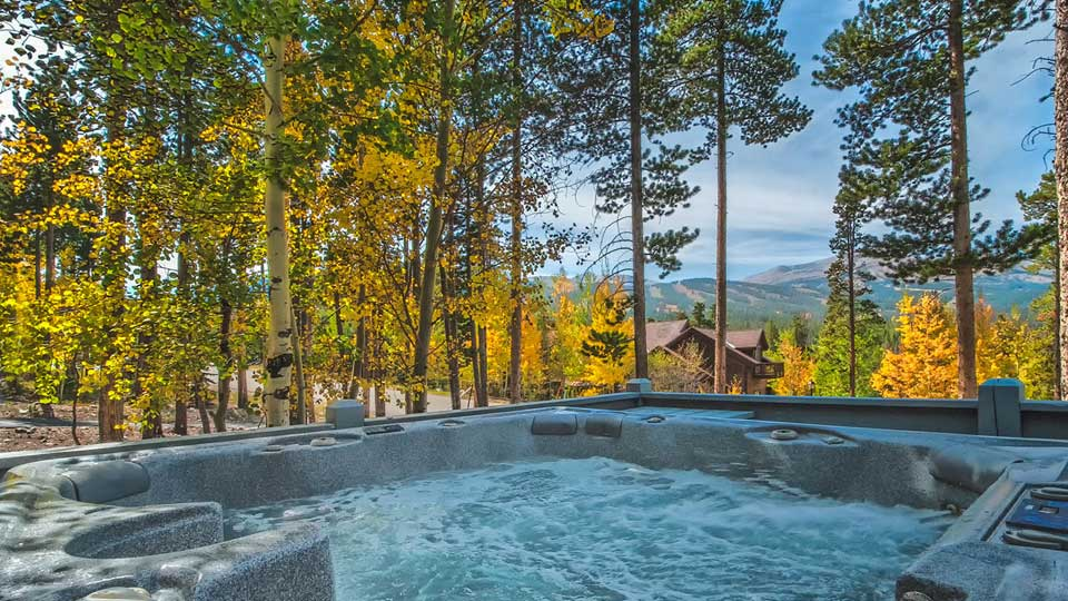 Hot Tub view to Breckenridge Ski Area